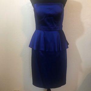 Calvin Klein Strapless peplum Dress SZ 4